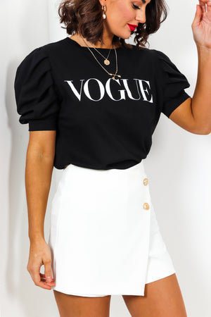 So Vogue - Top In BLACK