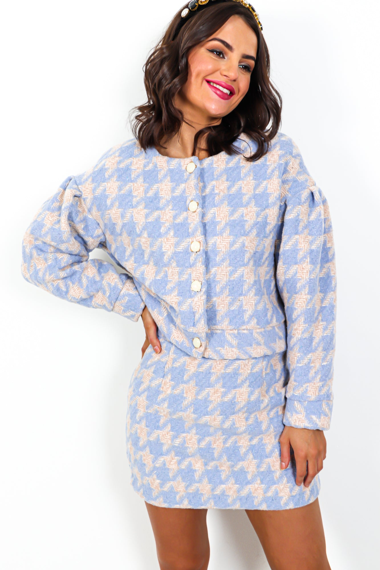 So Clueless - Co-ord In BLUE/BEIGE