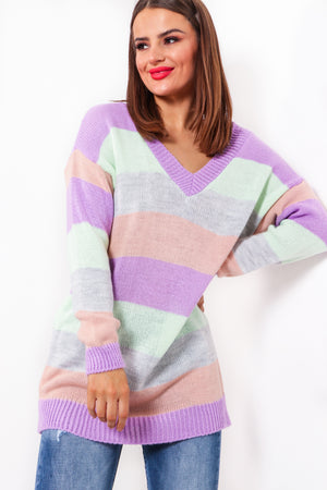 Sounds About Stripe - Lilac Multi Jumper