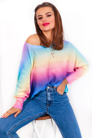 Spring Me To Life - Rainbow Light Knit Jumper