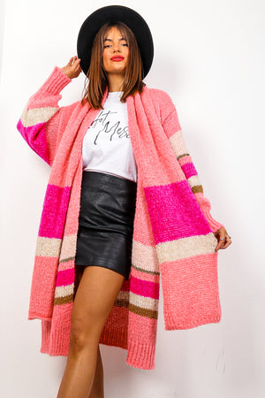Stay Cosy - Pink Multi Striped Co-ord