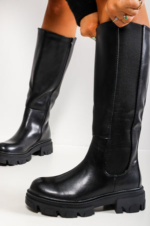 Step Up Your Game - Black Calf Boot