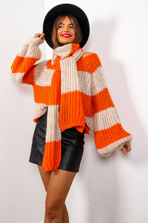 Stripe Dream - Orange Cream Knitted Co-ord