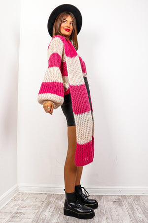 Stripe Dream - Pink Cream Knitted Co-ord