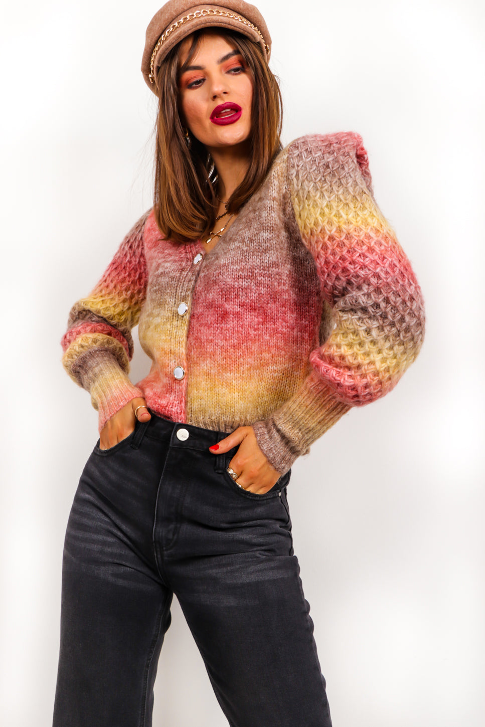 Sunset State Of Mind - Ombre Knitted Cardigan
