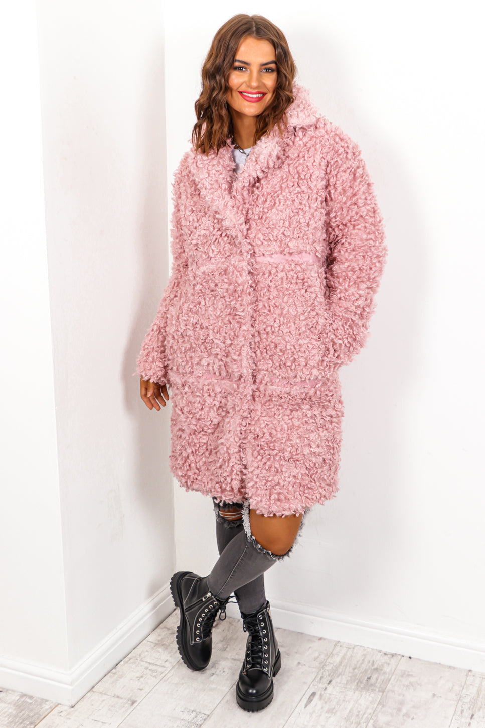 Teddy Or Not - Pink Teddy Coat