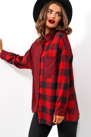 Thank Me Hater - Black Red Check Shirt