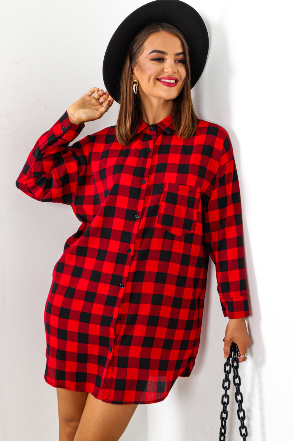 That's Gotta Shirt - Red Black Checked Shirt