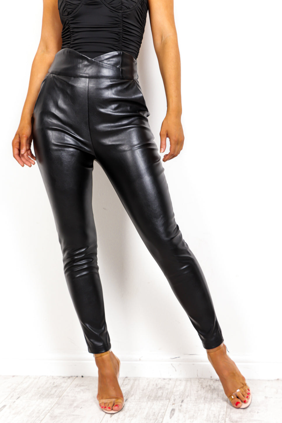 The Business - Trousers In BLACK-PU