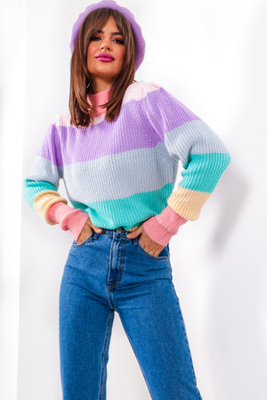 The Stripe Time - Multi Stripped Knitted Jumper