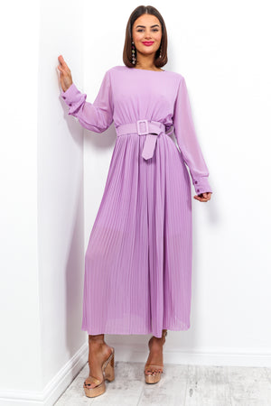 The Pleat Is On - Jumpsuit In LILAC