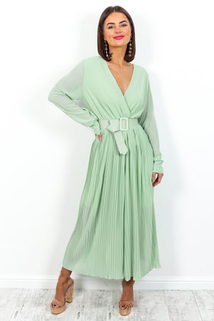 The Pleat Is On - Jumpsuit In MINT