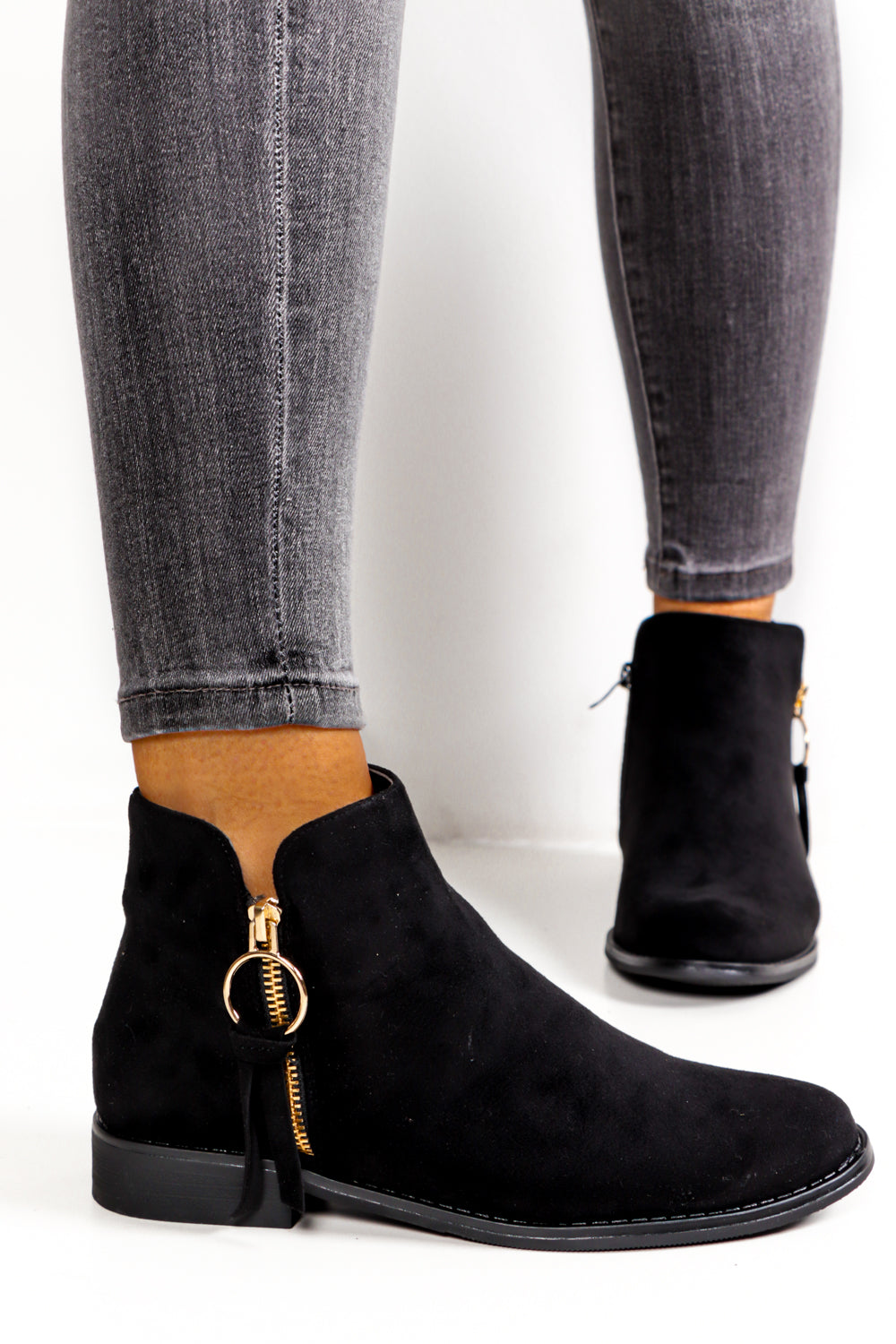 These Boots Are Suede For Walking - Black Suede Boot