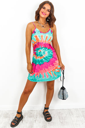 Mini Tie-Dye Dress- DLSB Womens Fashion