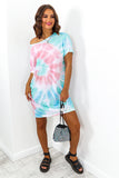 Pastel Multi Tie Dye T-shirt Dress DLSB Womens Fashion
