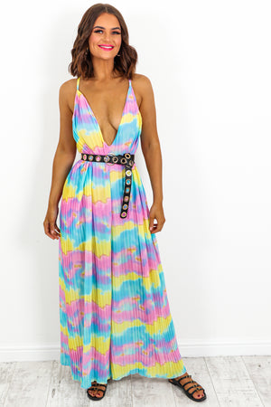Jumpsuit Multi Tie-dye- DLSB Womens Fashion