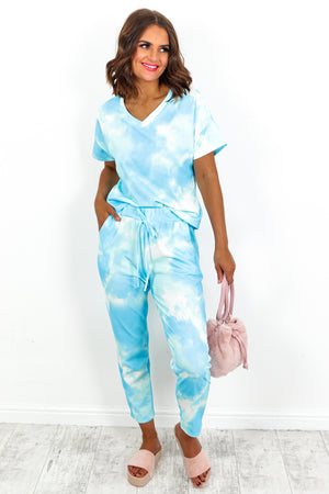 Tie-dye Tracksuit Co-ord Set - DLSB Womens Fashion