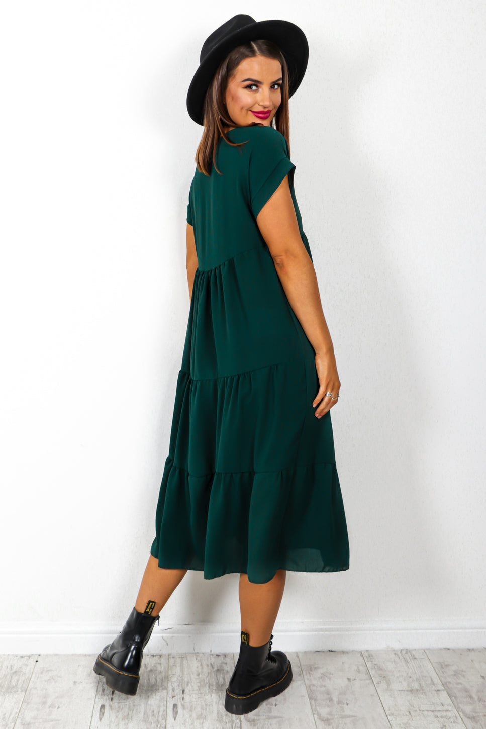 Tier And Now - Forest Midi Dress