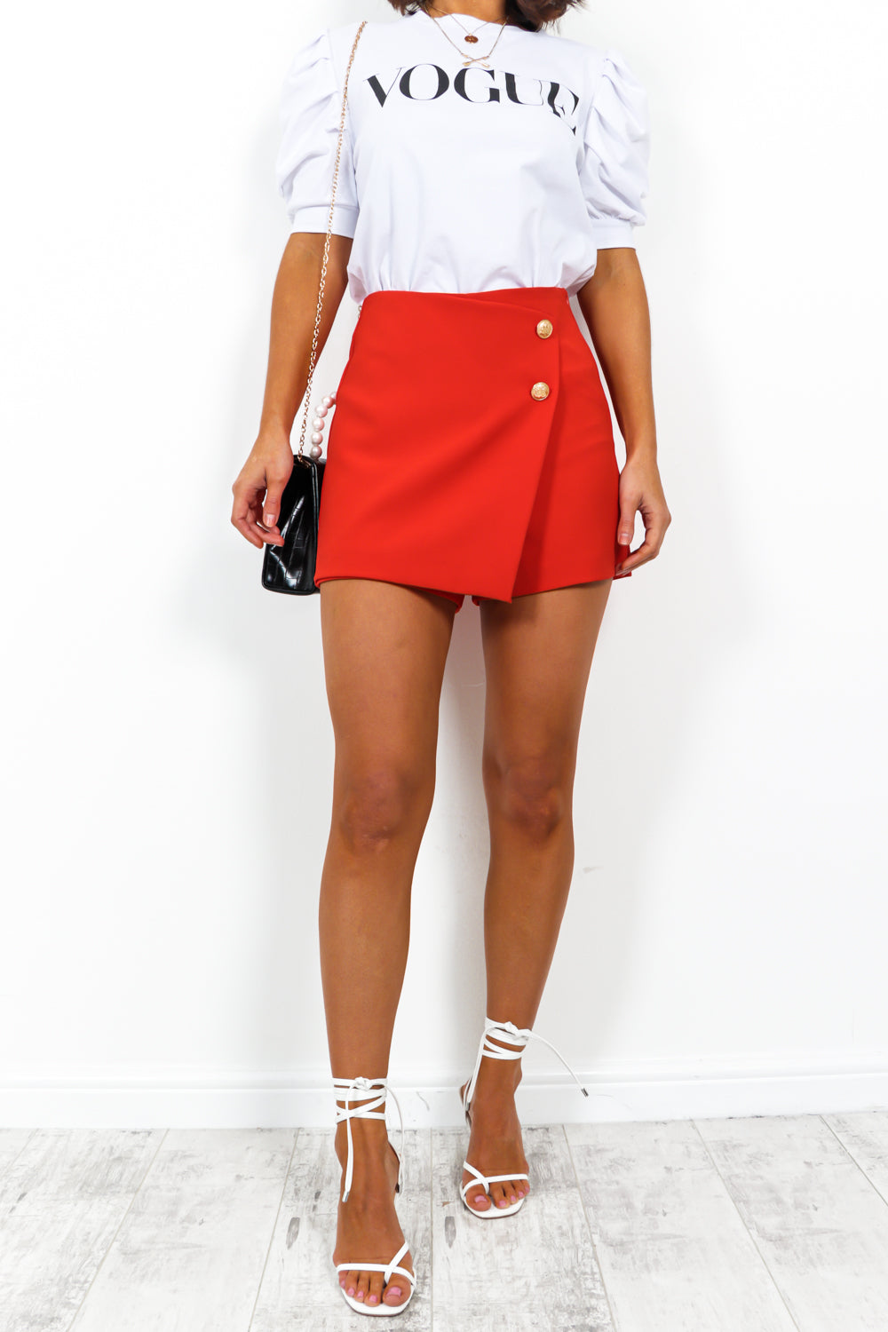 Under Wraps - Skort In RED