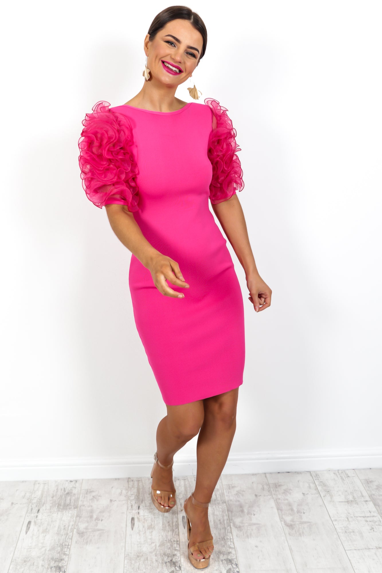 Whipped Dream - Dress In HOT PINK