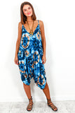 Jumpsuit Blue Multi Tie Dye - DLSB Women's Fashion