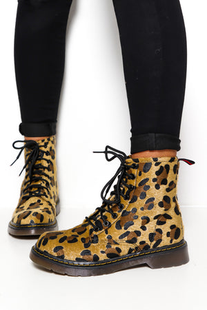 Wild Side - Leopard Lace Up Boot