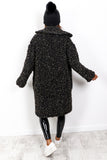 Winter Party - Black Teddy Coat