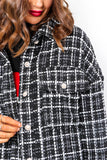 You Know You Love Me - Black White Check Shacket