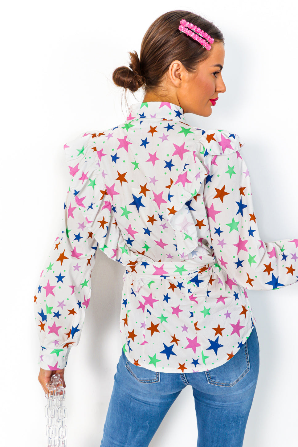 You're A Star - White Star Print Shirt
