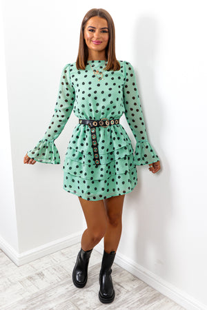 You've Dot This - Mint Spot Mini Dress