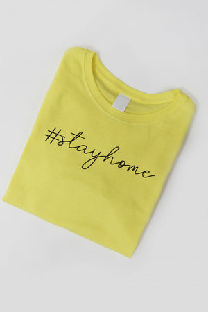 Home Sweet Home - T-shirt In YELLOW