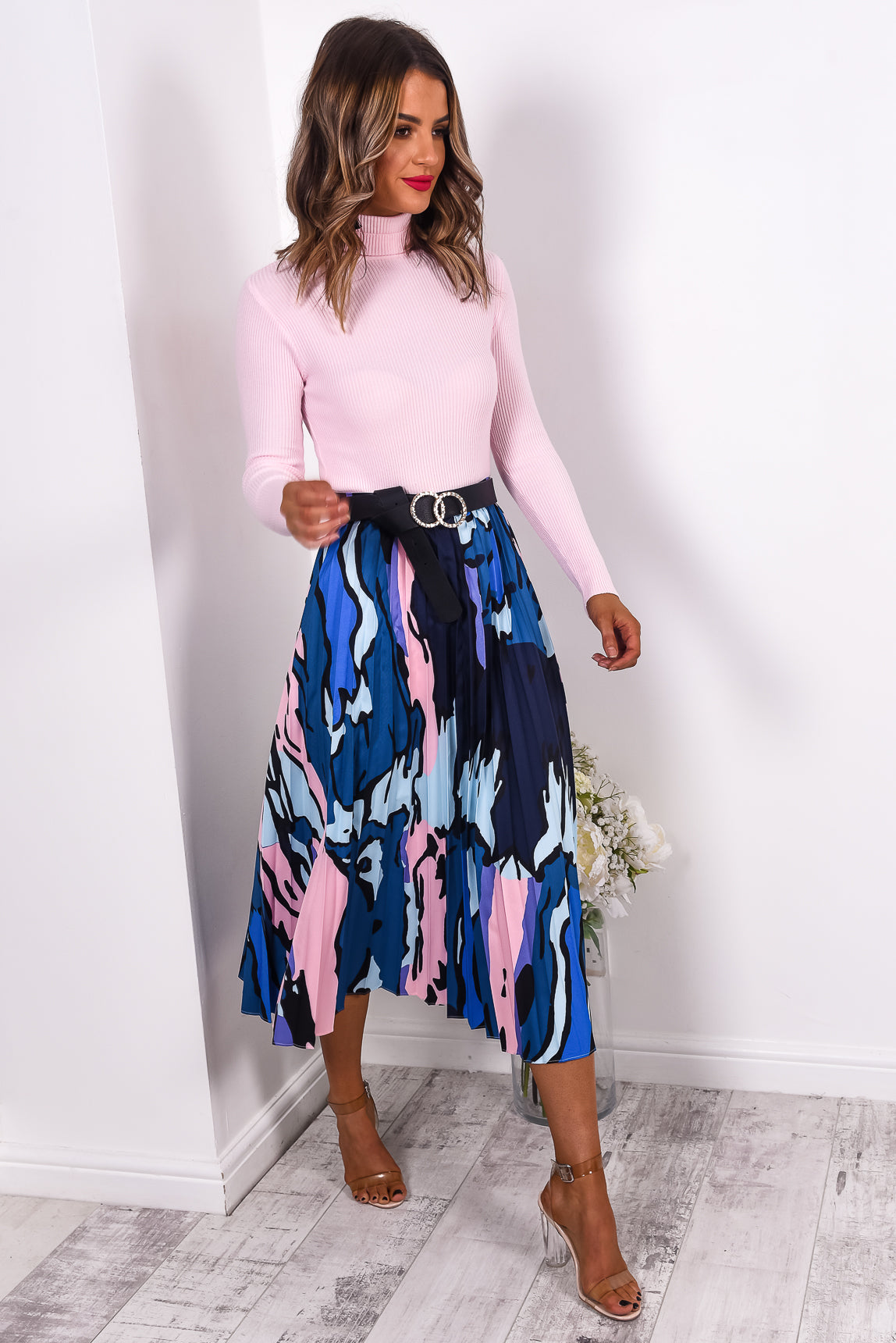 Paint The Town - Skirt In BLEU