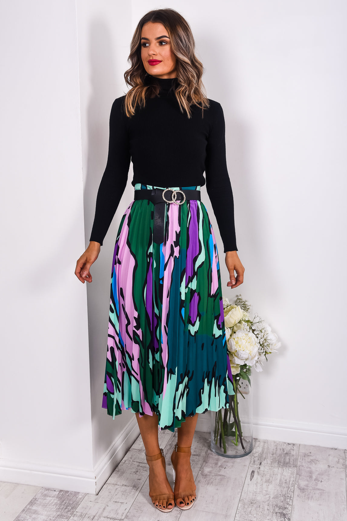 Paint The Town - Skirt In VERT