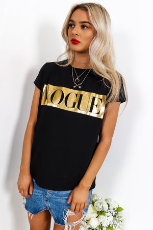 Vogue - T-shirt In BLACK