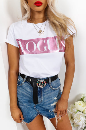 Vogue -T-shirt In PINK