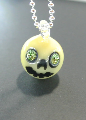 Bone Skull Marble with Swarovski Eyes 022