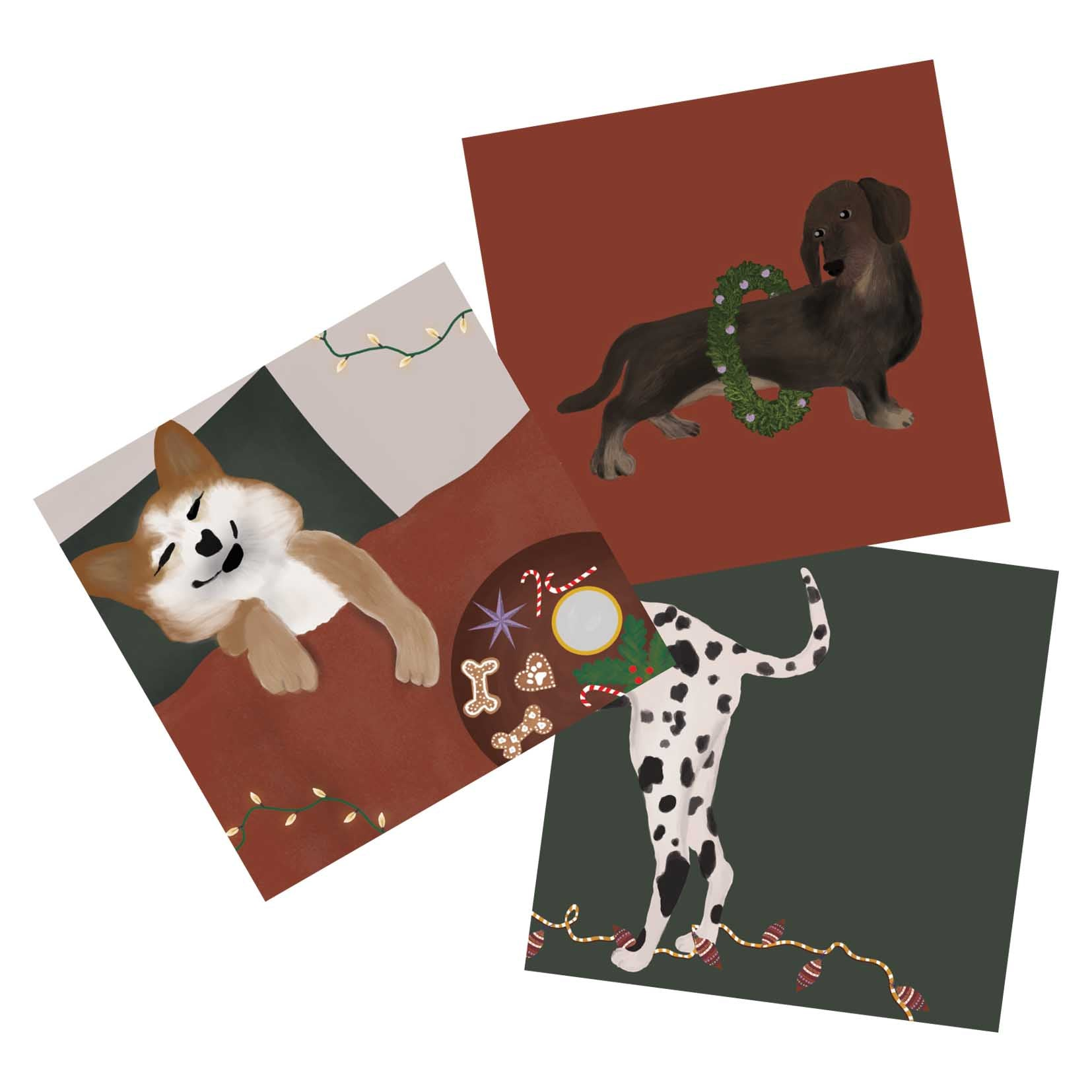 Christmas Card Set Dogs