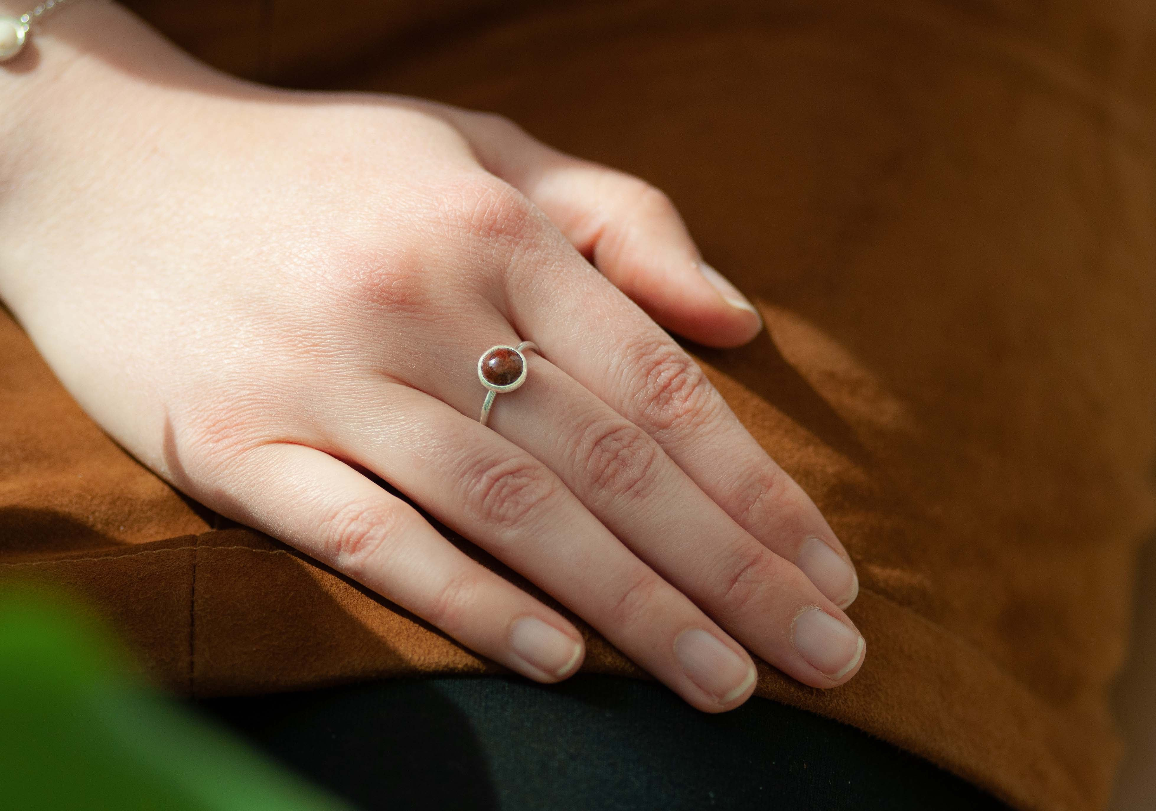 Muina Red Stone Ring