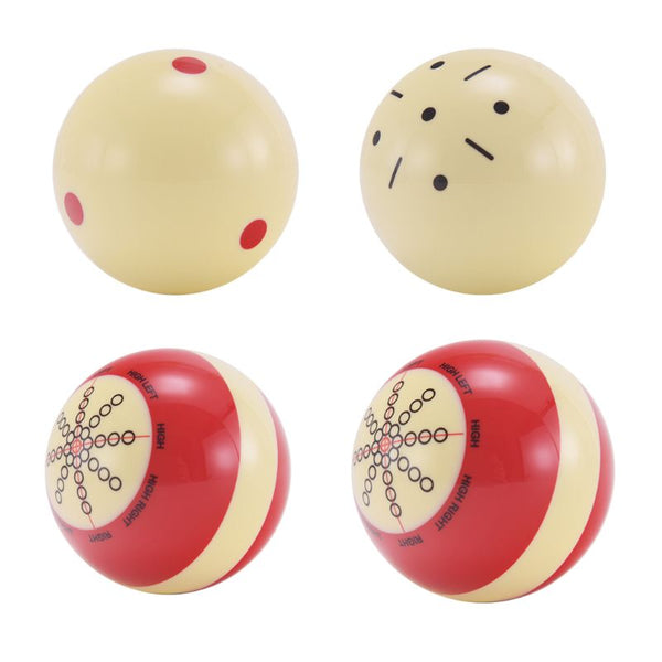 Durable Resin Billiard Practice Training Pool Cue Ball Snooker Training Balls Cueball 52/57mm Table Ball