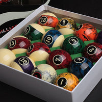 2020 New Design 16pcs Billiard Pool Ball set 57.2mm Billliards Accessories Resin balls High quality Nine Ball Marble pattern