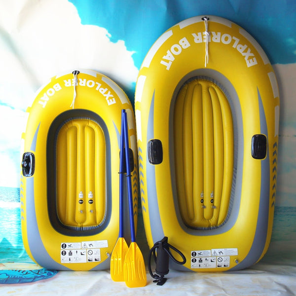 New 150/188cm Gaint Inflatable Kayak Canoe 150kg/250kg Rowing Air Boat Double Valve Drifting Diving Inflatable Boat Fishing Boat