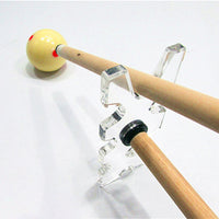 Acrylic Snooker Billiards Pool Cue Rack Bridge Head Transparent Rod Stick Pole Holder Billiards Accessories