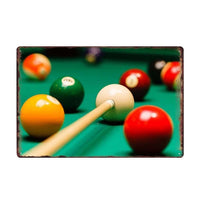 Billiards Metal Vintage Signs Billiards club Wall Poster Decoration Beer Bar Painting Pool hall Plaque Home Decor 20*30 CM