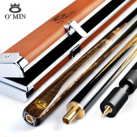 Omin snooker cues with case 9.5mm or 10mm tips Ash shaft 3/4 brass joint Handmade professional billiard cue stick taco de billar