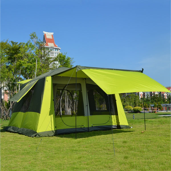 New Arrival 8-12 Person Ultralarge Tent Double Layer Waterproof Windproof Anti-UA Super Strong Camping Tent Large Gazebo