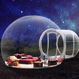 3M Outdoor Camping Inflatable Bubble Tent Large DIY House Home Backyard Camping Cabin Lodge Air Bubble Transparent Tent