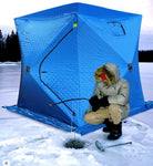 Tent CUBE for fishing, winter tent CUBE, single layer 1.8 m * 1.8 m with set ввёртыши for gift. High quality without marriage.