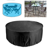 Outdoor Garden Patio Large Round Waterproof Furniture Dust Table Cover Household Chair Multifunction Set D4G5