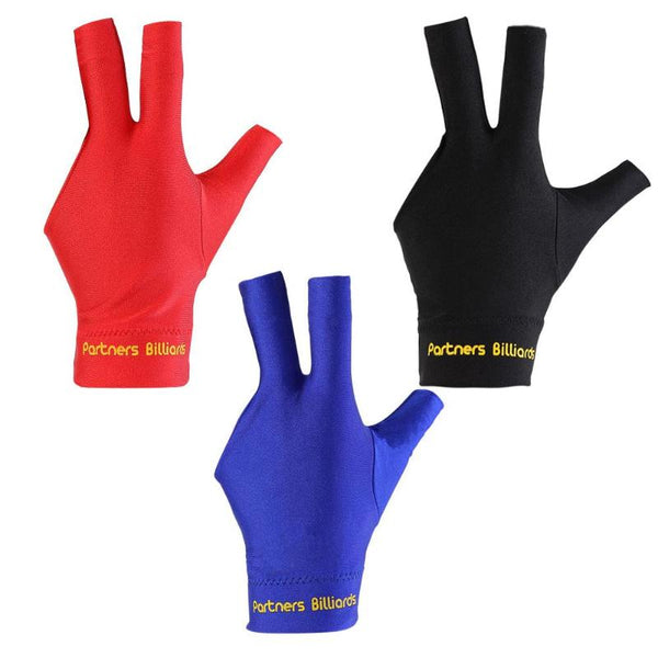 Billiards Three Fingers Glove Special High Grade Fingerless Billiard Gloves High Quality Sports Equipment Free Size