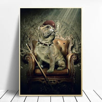 Gentle Animals Playing Billiards Canvas Paintings on The Wall Art Posters and Prints Lion In A Suit Wall Cuadros Home Decor